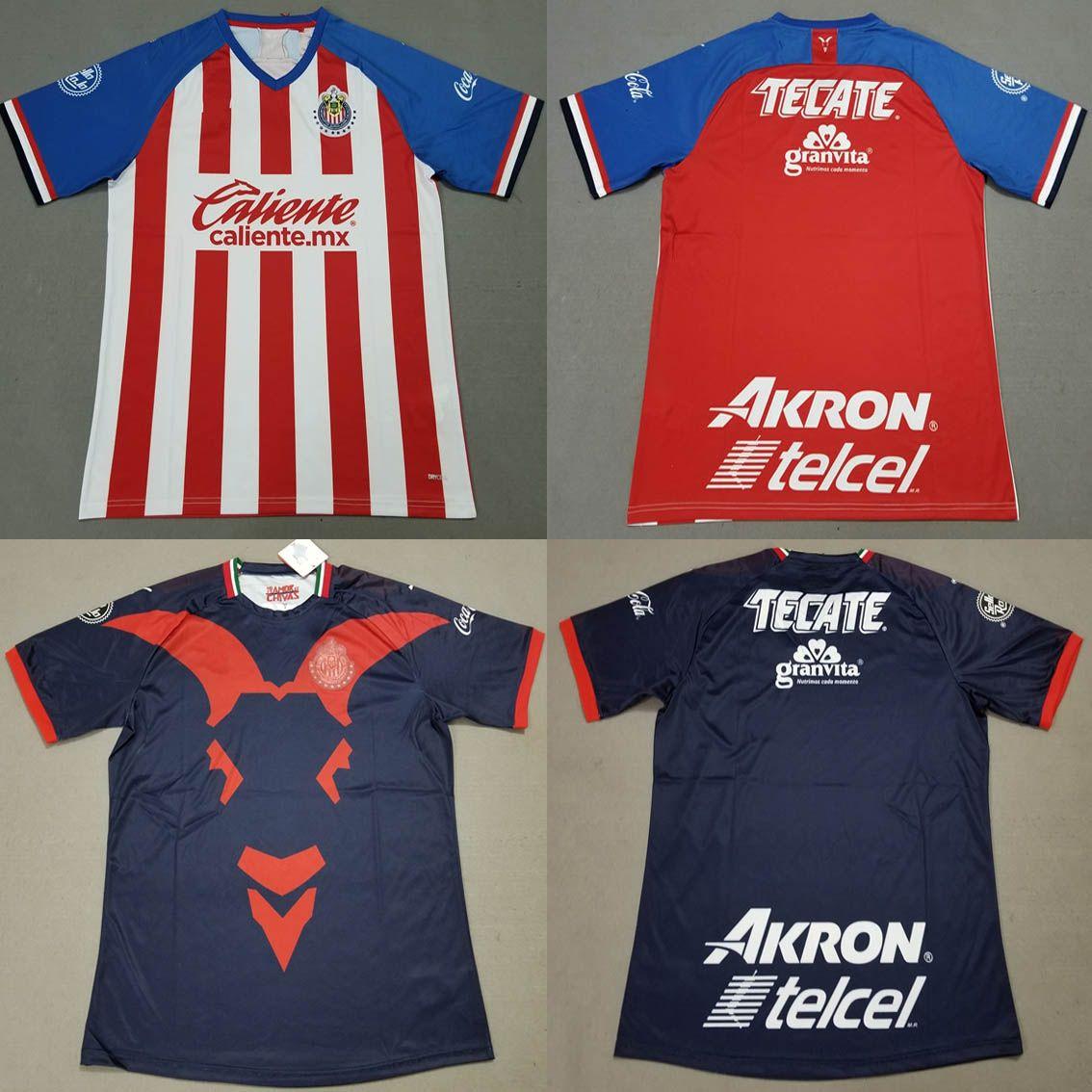 new arrivals 5f461 21293 19 20 Chivas Soccer Jersey A.PULIDO LOPEZ A.ZALDIVAR VAZQUEZ Football  Shirts 2019/20 Chivas Guadalajara Home Away Sports Tops