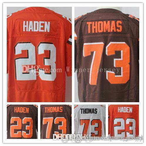 newest collection 63910 c5936 Cleveland 23 Joe Haden Brown Jersey Men's 79 Joe Thomas Jerseys Embroidery  and 100% Stitched Free Shipping fast