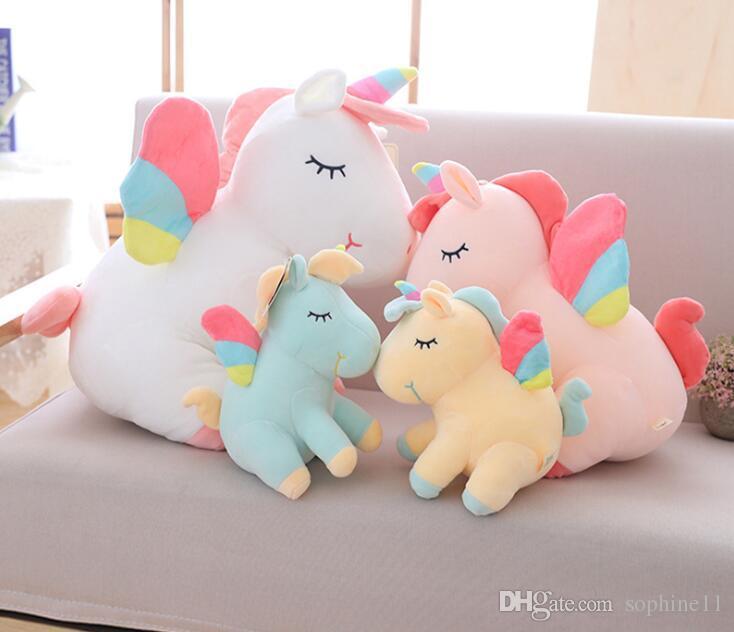 peluche Unicorno peluche animato giocattolo all'ingrosso cartone simpatico cuscino fb7Yy6gv