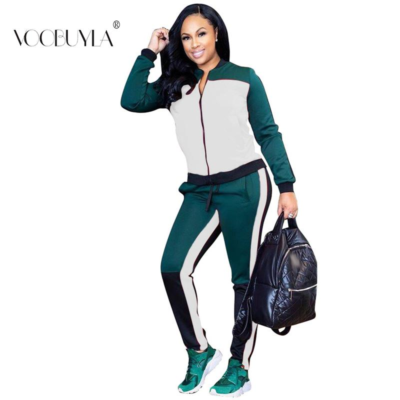 Voobuyla Spring Sport Suit Women Tracksuits Zipper Jacket Top Shirts ... accda9a0db6