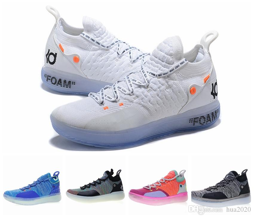 2019 KD 11 EP White Orange Foam Pink Paranoid Oreo ICE Basketball Shoes Kevin Durant XI KD11 Mens Trainers Sneakers baskets des chaussures
