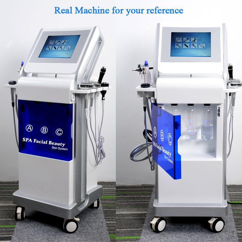 Multifunzione idra diamante dermoabrasione macchina spruzzatore facciale PDT LED luce terapia hydrodermabrasion macchina della pelle pulita ossigeno buccia jet