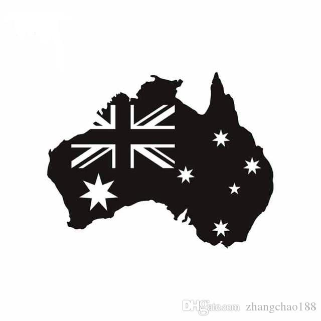 Australia flag with map reflective qualtiy decal for car laptop ca 512