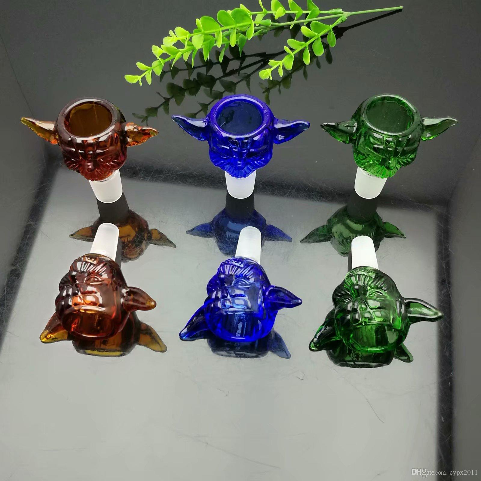 Color Wing Glass Bubble Head Converter 14mm Wholesale Bongs Oil Burner Pipes Water Pipes Glass Pipe Oil Rigs Smoking
