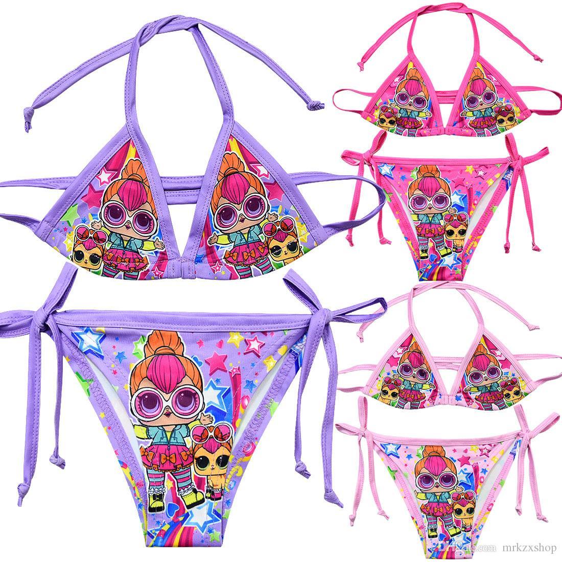 3c6581667e 2019 Summer Girls Bikini Swimsuit Cute Two Piece Cartoon Dolls Kid Baby Girl  Bathing Suit Zx1812 From Mrkzxshop, $4.43   DHgate.Com