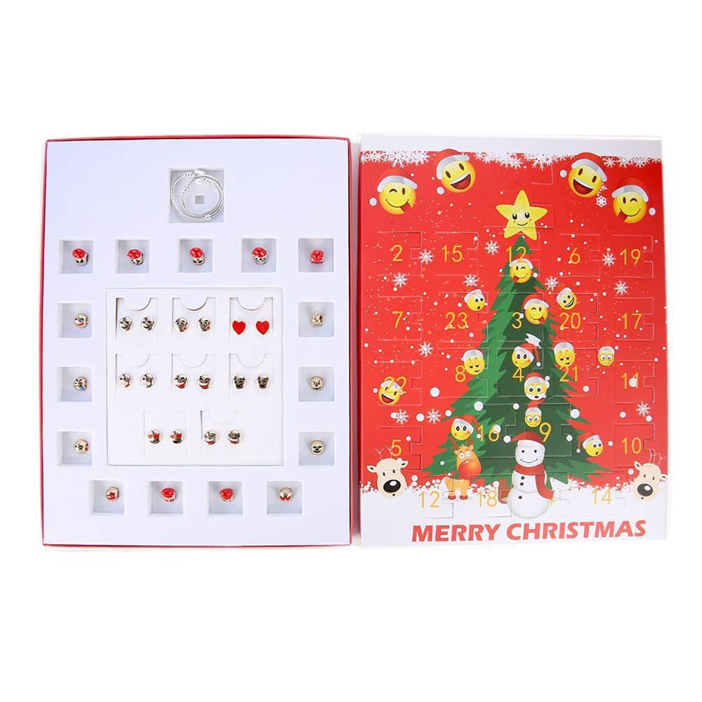 Weihnachtskalender 2019 Mädchen.Weihnachtskalender Geschenkbox Diy Schmuck Adventskalender 2019 24 Tag Mit Armband Countdown Weihnachtsgeschenk Für Mädchen No16