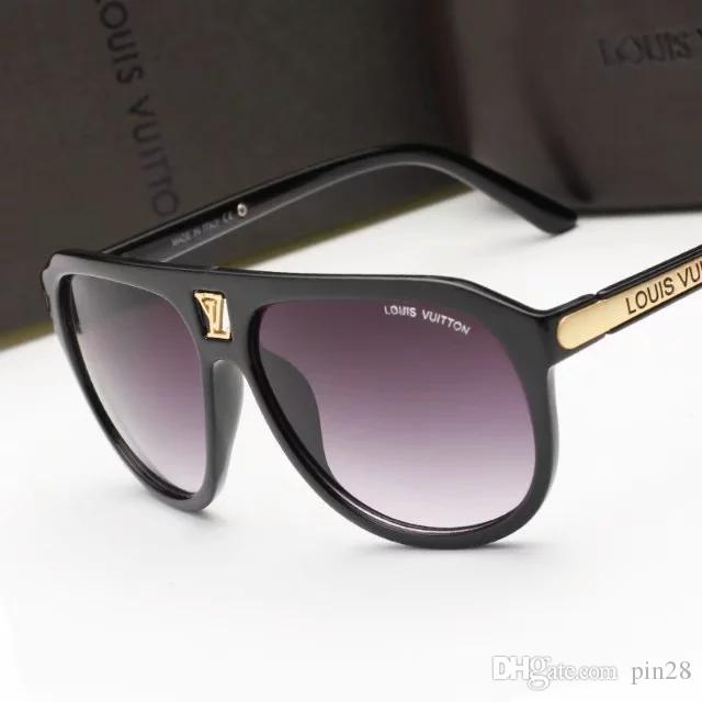 9018The name Designer brand new fashion high-end classic sunglasses attitude sunglasses gold frame square metal frame vintage style