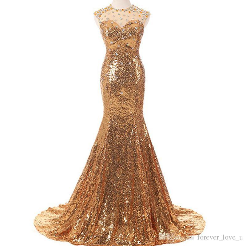 Imagenes de vestidos de noche dorados