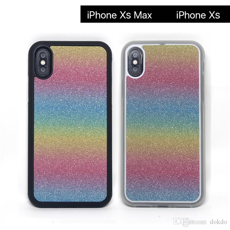 3224d3b2309 Forros Para Celular Para IPhone Xs Funda TPU Con Carcasa Colorida De PC  Shell Rainbow Para Apple IPhone XR MAX 2019 Cubierta Brillante Fundas  Moviles Chinos ...