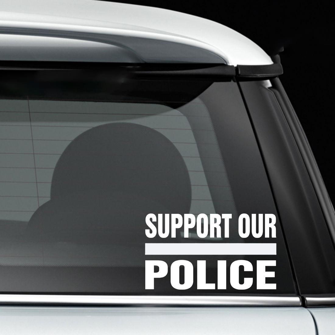 15 88 Cm Unterstützung Unserer Polizei Mit Dünnen Linie Streifen Interessantes Autozubehör Auto Fenster Aufkleber Aufkleber Cops