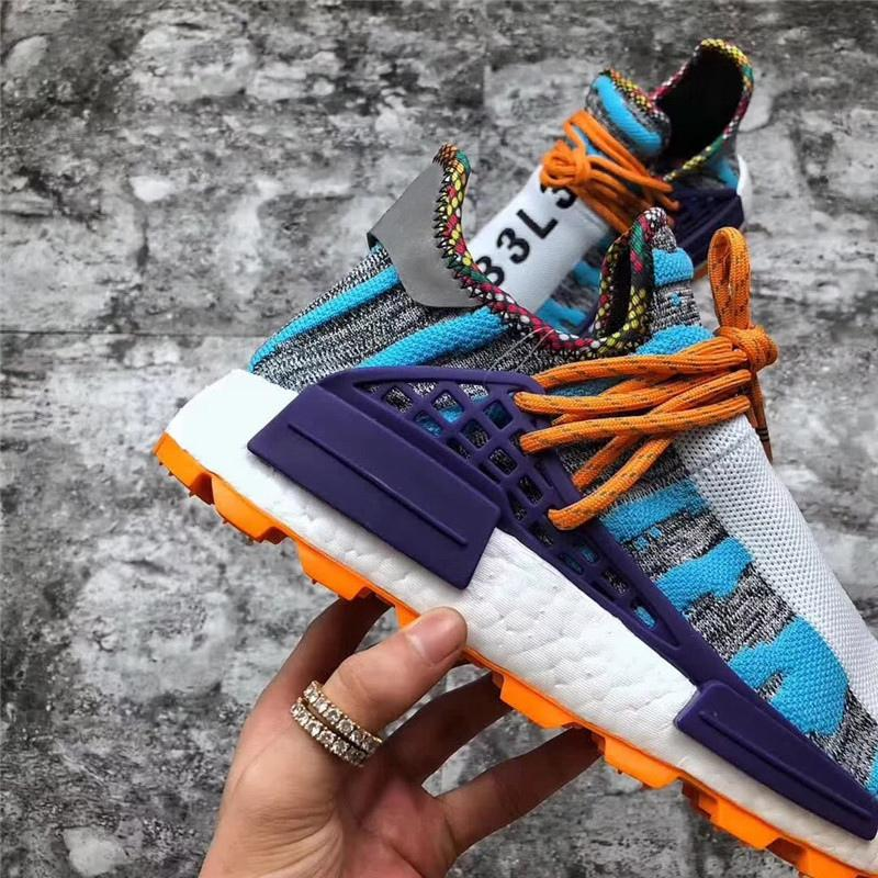 brand new ed140 6e28d 2019 Newest Pharrell Williams x Originals NMD Hu Trial Solar Pack M1L3L3  3MPOW3R Human Race Men Women Running Shoes Authentic Sneakers