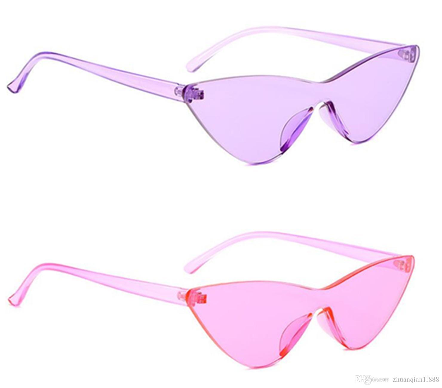 3a873235289 New Cat Eye Sunglasses One Big Box Avant Garde Hot Candy Color Sunglasses  UV400 Sunglasses Eyeglasses From Zhuanqian1l888