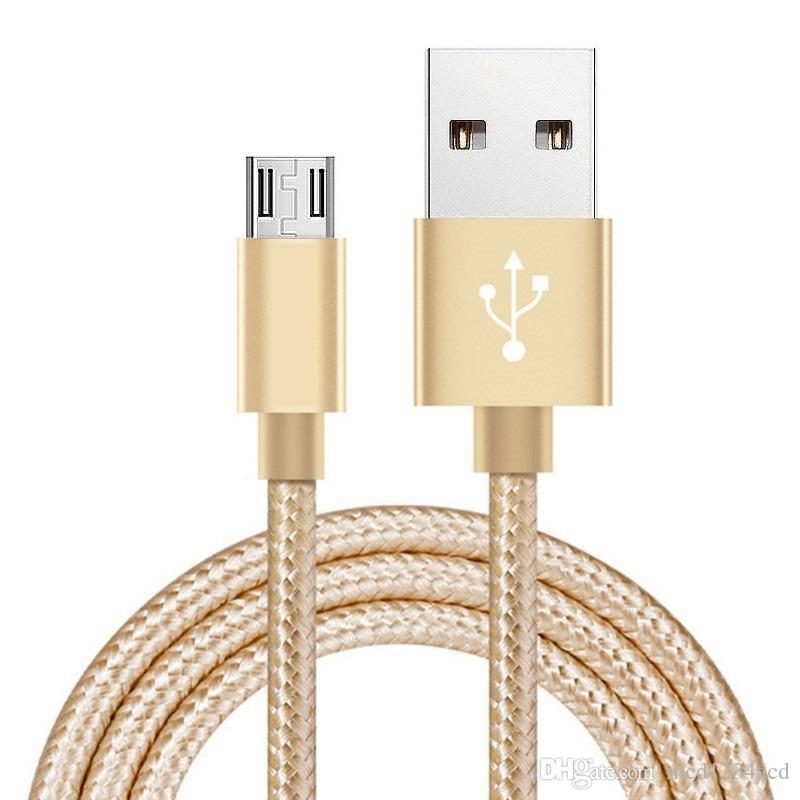 1 m 2m 3M Typ C Typ C Micro USB-Kabel Geflochtene Nylon-Legierung Metallkabel für Samsung S8 S10 S11 Anmerkung 10 HTC Android-Telefon
