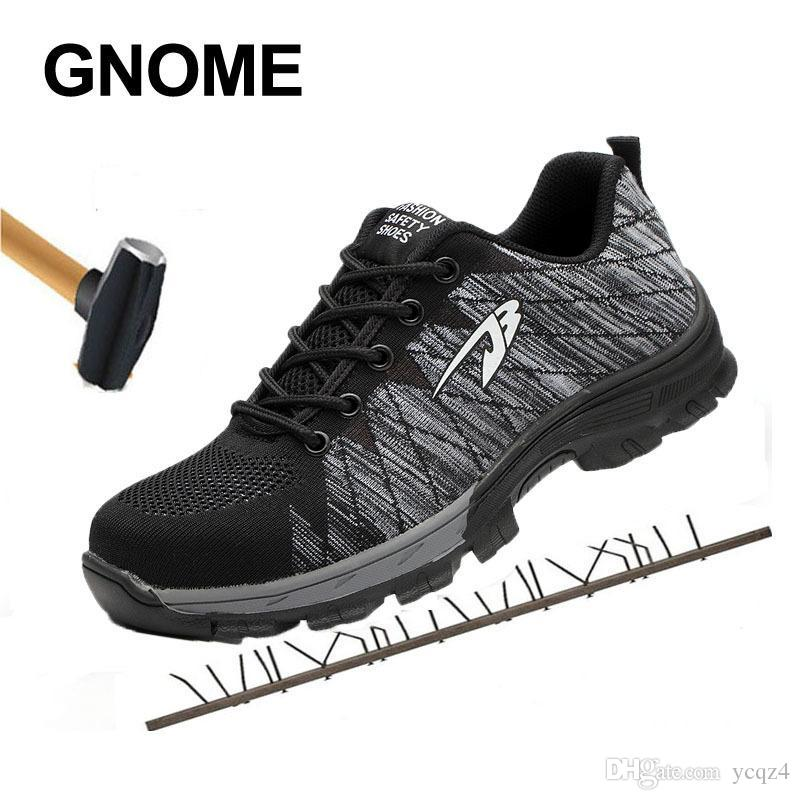 timeless design 045a6 135fe Gnome New Breathable Schutz Sicherheit Schuhe Männer Anti-Smashing  Arbeitsschuhe Stahlkappe Stiefel Männer Anti-Rutsch-Big Size Men Boots