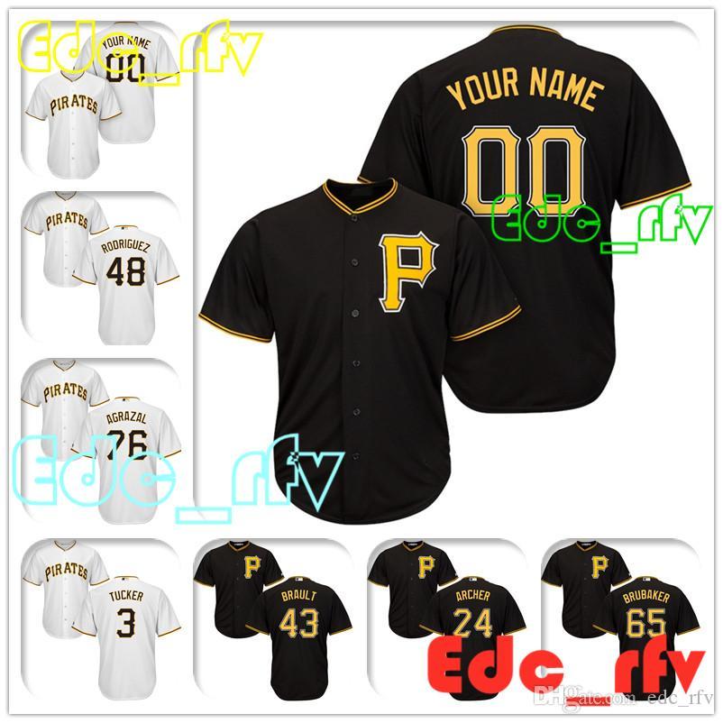 fb59d4705 Pittsburgh Pirates Majestic Black Cool Base Custom Baseball Jersey ...