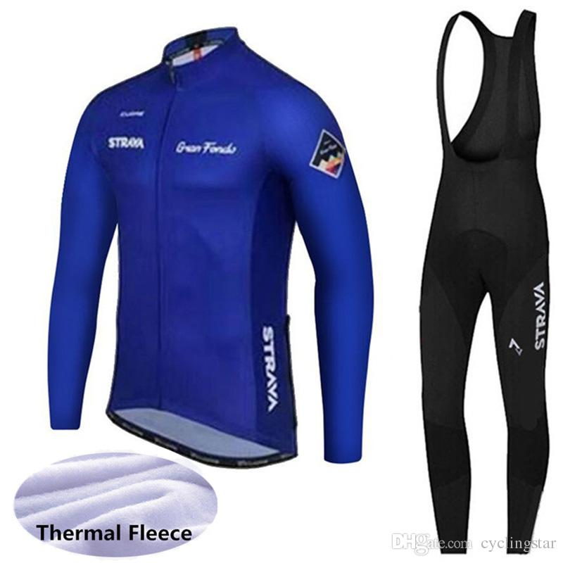Cycling Jersey Set 2019 Strava Long Sleeves Winter Thermal Fleece Road  Bicycle Wear MTB Bike Clothing Maillot Ropa Ciclismo Hombre 122602Y Womens  Cycling ... 1b80dc3d8