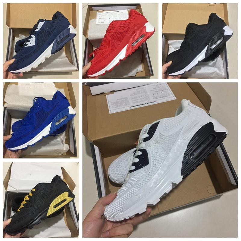 Nike Air Max Original venta caliente barato Hombres Mujeres Deportes al aire libre zapatos 90KPU 90 KPU 90S Diseñador de lujo oficial zapatillas de