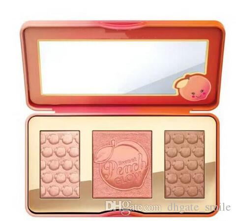 En stock Novedades Hot new Sweet Peach Glow infused Bronzers Resaltadores maquillaje paleta de rubor