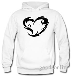 TRIBAL HEART Funny Hoodie Gift Novelty Joke Jumper Top