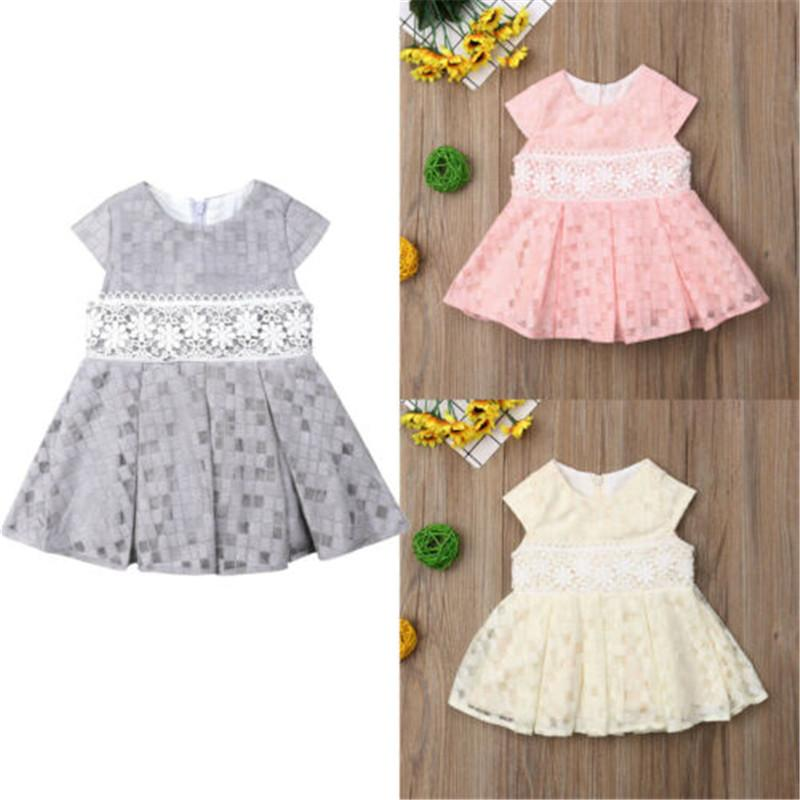 b222180810707 Toddler Floral Kid Baby Girl Dress Sleeveless Solid Color Princess Party  Holiday Lace Tutu Mesh Cotton Girls Dresses Clothes