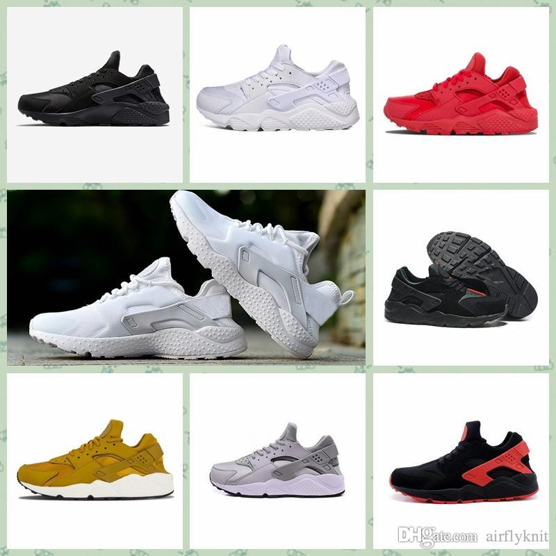 NHRC1A Hot Sale Men Women Air Huarache-shoes IV 4 Run Ultra Running Shoes Grey Red Green Triple black white Trainers Sport Athletics Sneaker