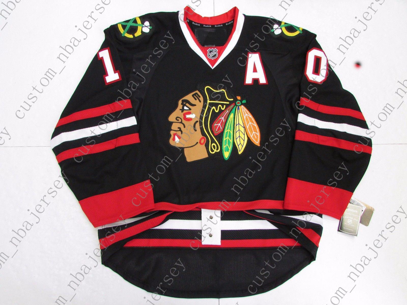 huge selection of 1ec00 0707f Cheap custom Patrick Sharp CHICAGO BLACKHAWKS THIRD BLACK JERSEY stitch add  any number any name Mens Hockey Jersey XS-5XL
