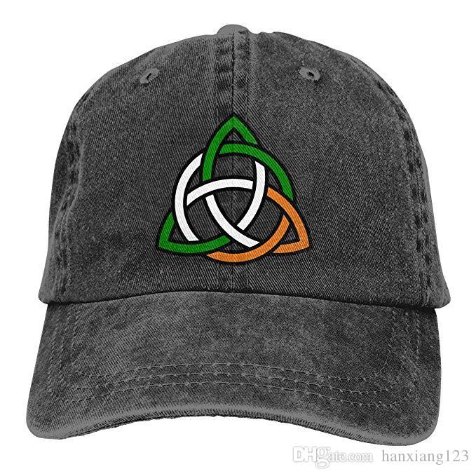 38f075f63 2019 New Custom Baseball Caps Celtic Knot Irish Mens Cotton Adjustable  Washed Twill Baseball Cap Hat