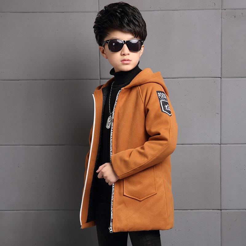 Abbigliamento per bambini New Winter Boys Giacca in lana Big Boy Giacca a vento in coreano Cappotto in lana casual