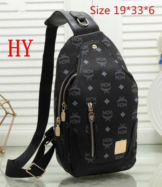 2019 The Newest Fashion Suit More Clothing Men PU Leather Sling Chest Pack Crossbody Sport Shoulder Bag XXS
