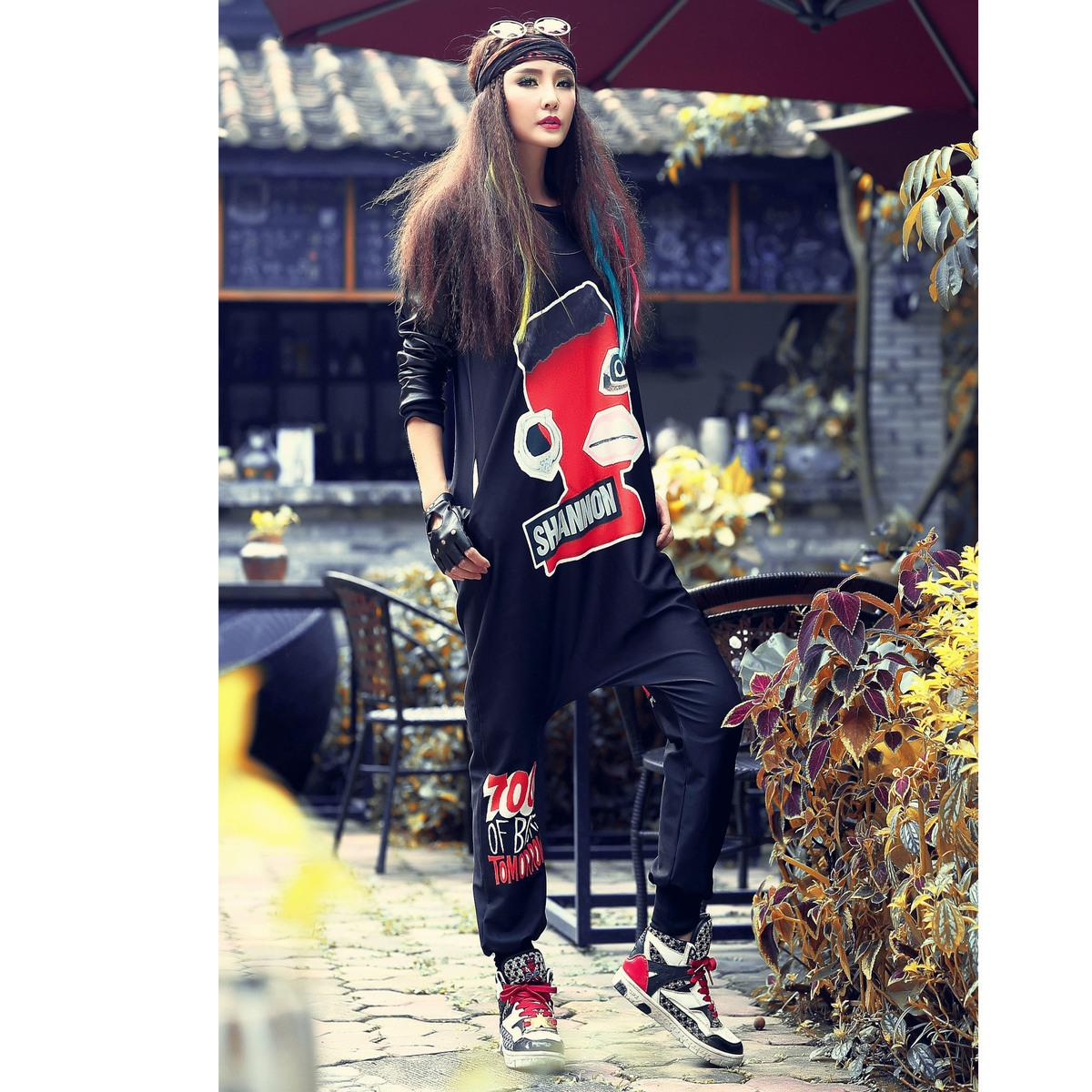 2019 Just.Be.Never Hip Hop Style Slacks Harem Pants Lady Casual Large Size  High Elastic Waist Loose New Novelty Products 2018 Dance D18122701 From  Tai002 0b3add26d4e4