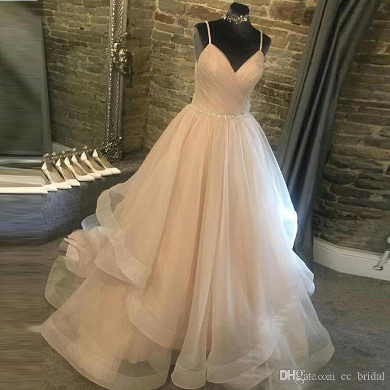 Tulle Ball Gown African Wedding Dresses 2019 With Shining Beading ... 84eb5d7ce223