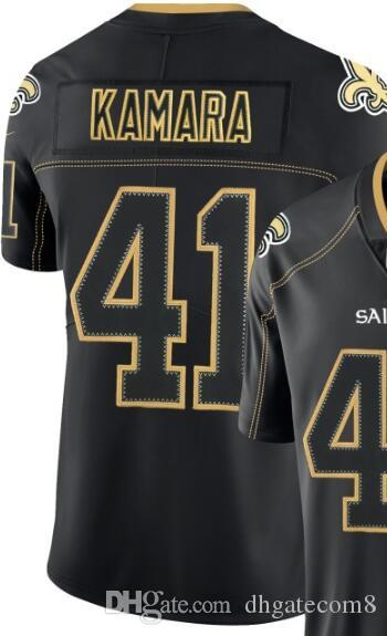 Lights Out Black Color Rush Limited Jersey Man's New Orleans 9 13 41 Jersey Shirts Athletic & Outdoor American football jerseys