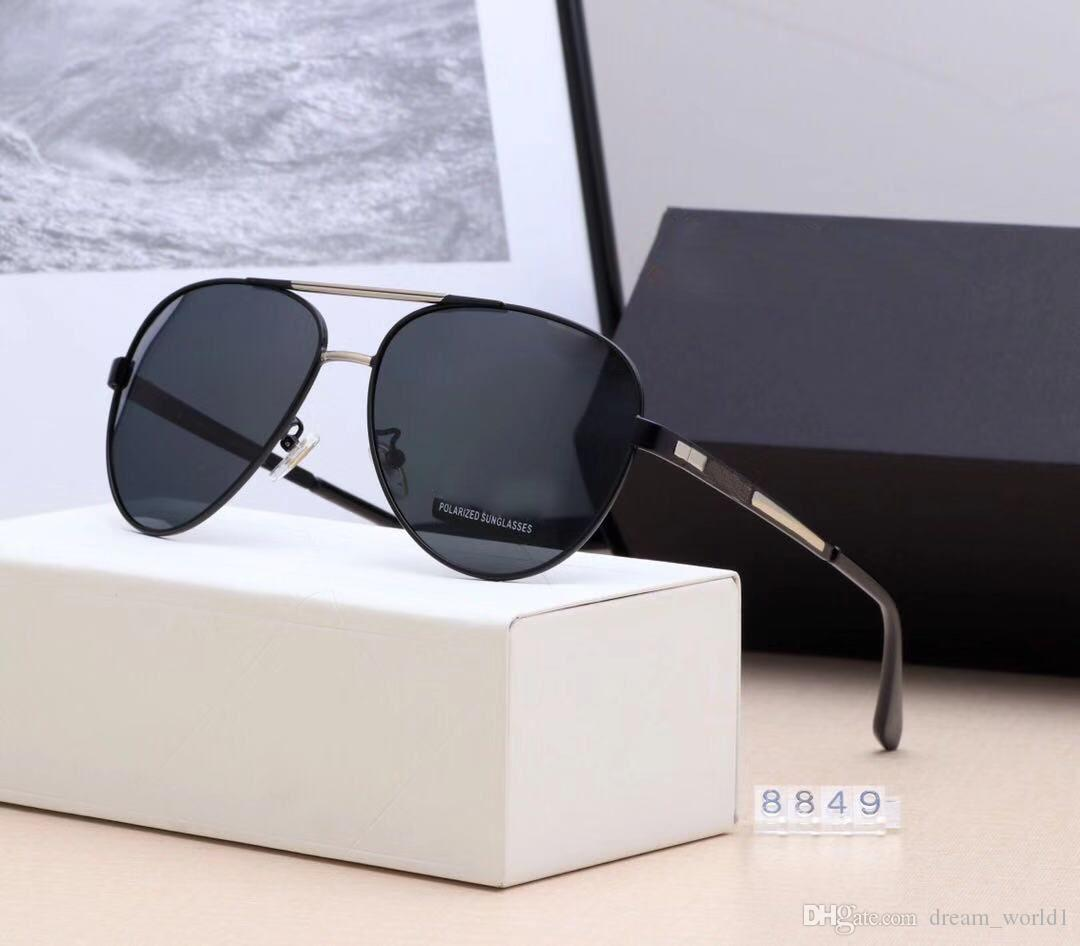 38763d85bde9 8849 Cool Men Square Pilot Sunglasses Gold/Brown Gradient Lenses ...