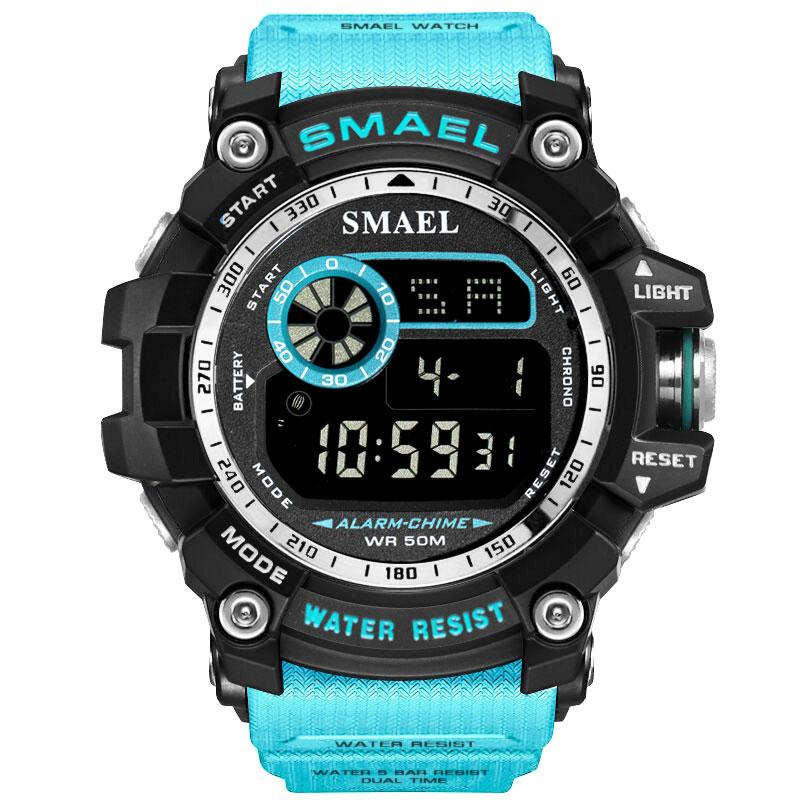 SMAEL Digital Watches Men Army Watches Running 50M Waterproof LED Clock Digital Watch Light 8010 Men Sports