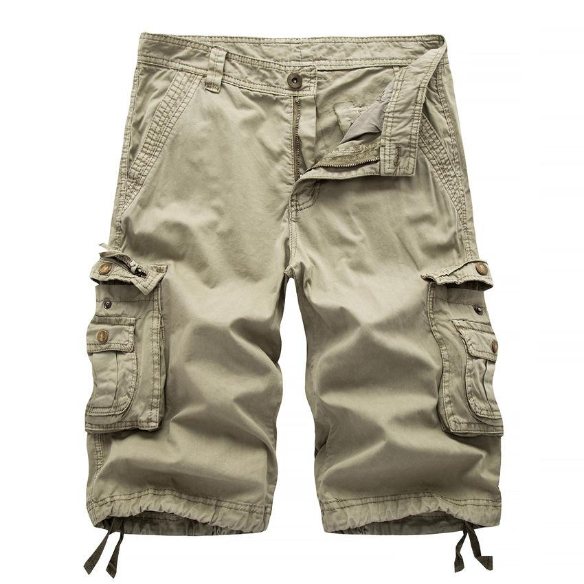 60dcdc4447 2019 2017 Mens Cargo Shorts Summer Style Army Green Casual Trousers ...