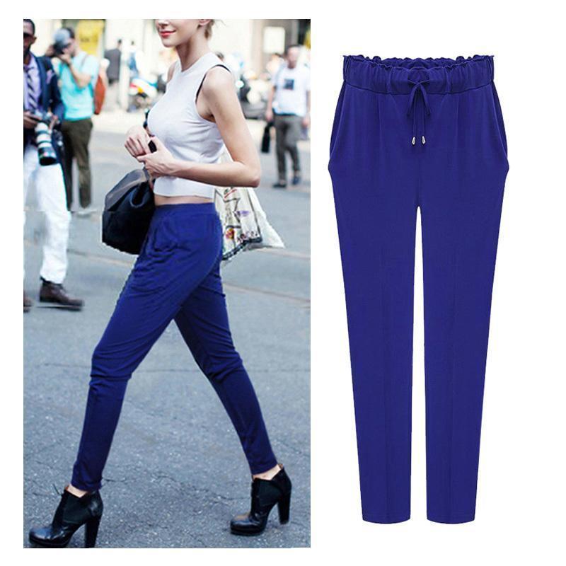 Women Harem Pants 2019 Plus size 6XL Elastic Waist Leisure Ankle Length  Solid Color Trousers Kpop Pants Female 3 Color Hot Sale