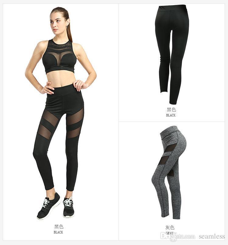 485ef2cb154dcb Wholesale Fitness Yoga Sports Leggings For Women Sports Tight Mesh ...