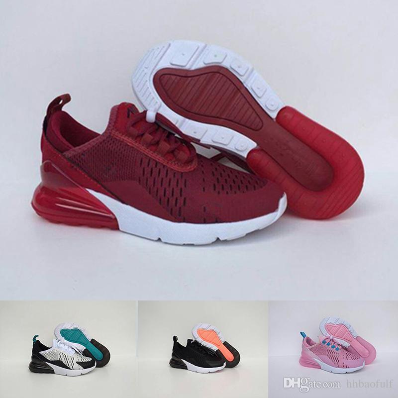 Détails sur Nike Air Max 270 Noir Noir Enfants Garçons Fille Baskets taille 33