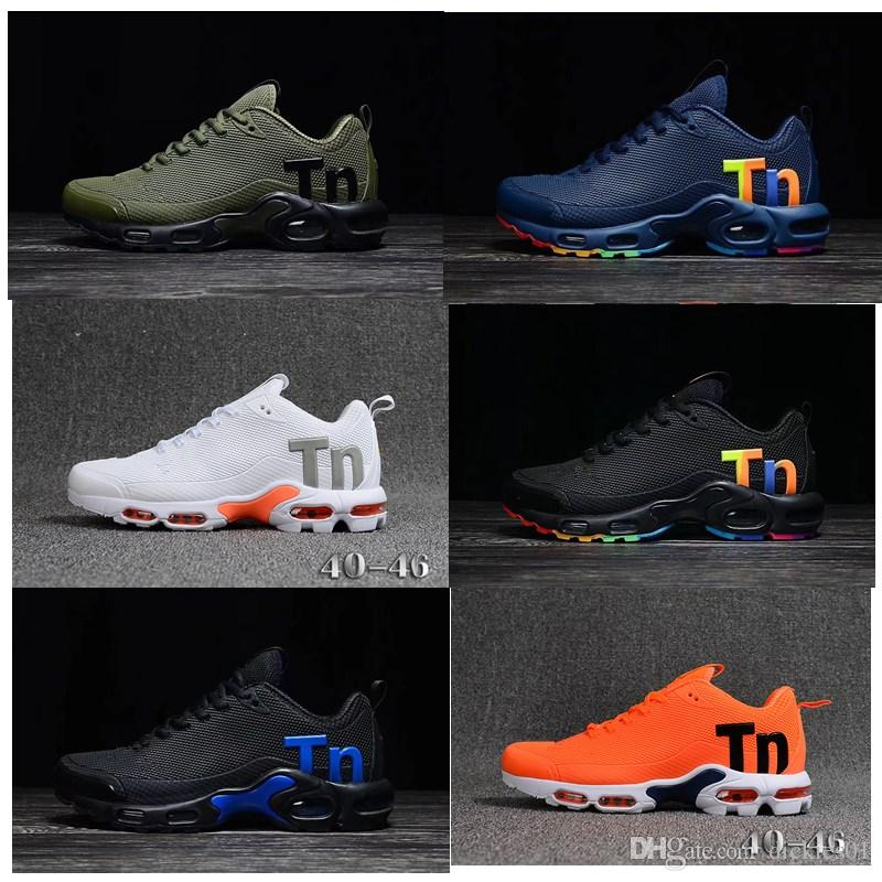 reputable site 0aefd 0a4f3 Acheter Nike Mercurial Air Max Plus Tn Mercurial Plus Tn 2 Noir Blanc  Orange Gris Rose Chaussures De Course Pour Les Entraîneurs De Haute Qualité  TN2 Hommes ...