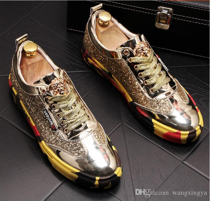 High quality fashionable men's senior British style tiger head;Rivet luxury shoes for men's outdoor casual shoes a49