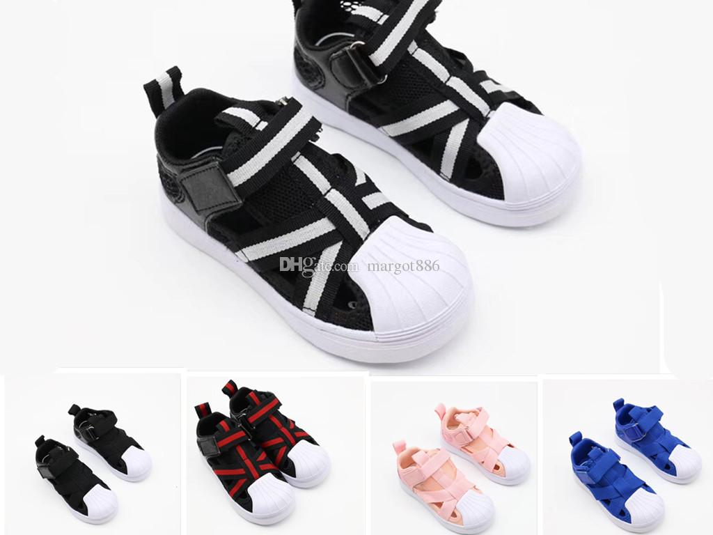 detailed look c7154 c3cba 2019 new Kids Superstar 360 Athletic Children s sports shoes boys  breathable mesh shoes girls pink gloden Baby birthday gift 26-35