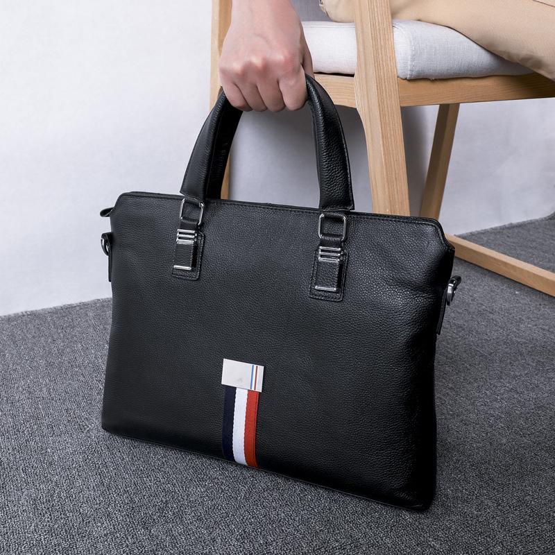 BAQI Brand Men Briefcase Bag Men HandBags Genuine Cow Leather Man Computer  Business Bag 2019 Fashion Shoulder Bags Messenger Leather Holdall Men Bags  From ... 302faf8d07961