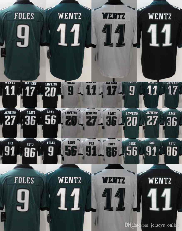 86 Zach Ertz Philadelphia 11 Wentz Jersey 20 Brian Dawkins Eagles 27 ... be12411ae