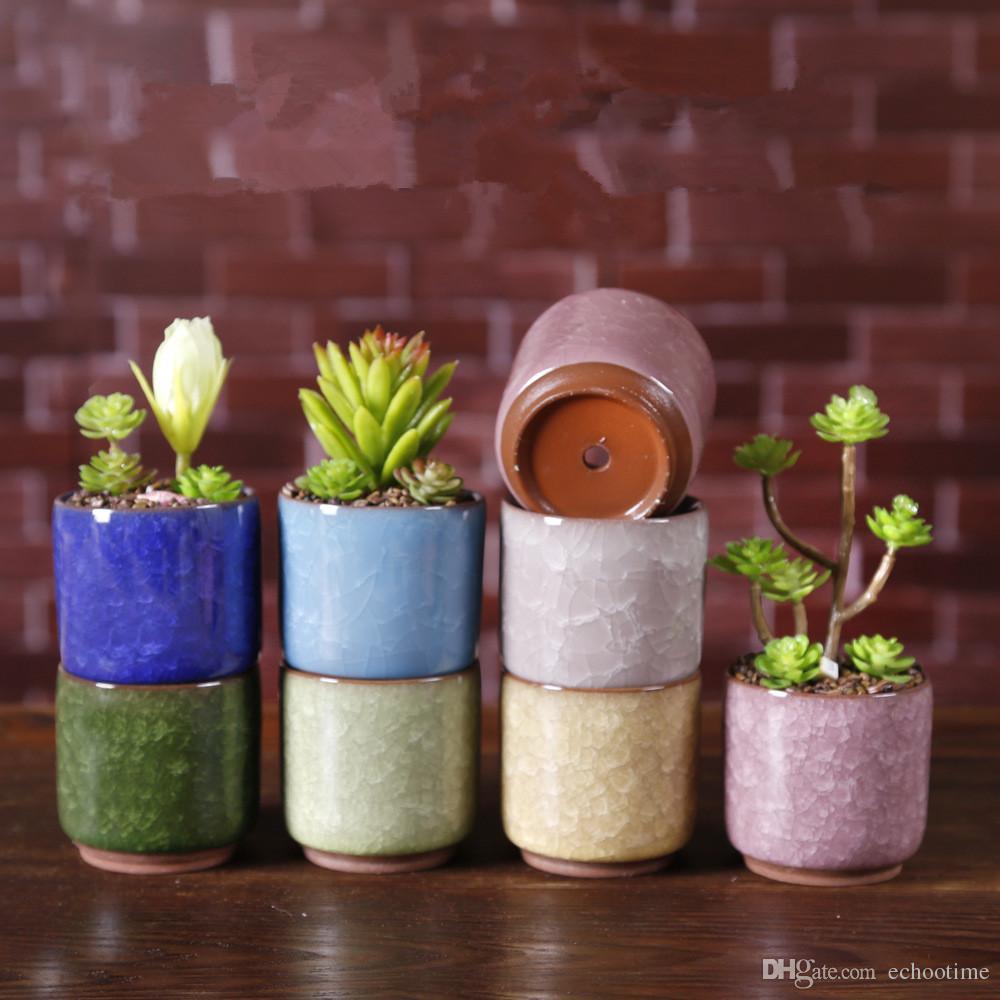 Acheter Glace Fissurée Mini Pot De Fleur En Céramique Coloré Mignon Pot De  Fleurs Pour Décoration De Bureau Meaty En Pot Plantes En Pot Planteurs De  $1.63 ...