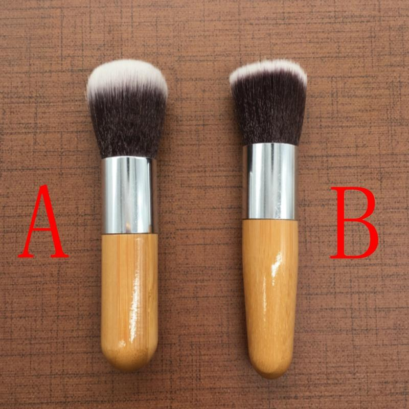 Professionelle Flat Top Brush Foundation Puder Schönheit Pinsel Bambus Runde Kopfbürste Kosmetik Make-up Pinsel Werkzeug