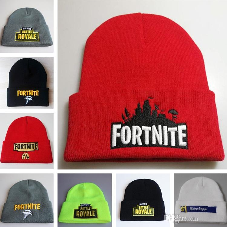 514ab54c40f FORTNITE Wool Hats Fortress Night BATTLE ROYALE Embroidery Knit Hat Head  Hip Hop Hat Warm Hats Skull Caps T8C006 Black Baseball Cap Knitted Hats  From ...
