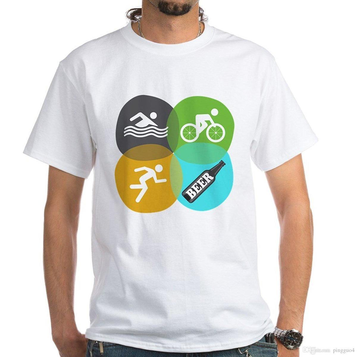 781c99d0 CafePress Swiming Bikes Runs Beer! 100% Cotton T Shirts, White T Shirt Men Funny  Tee Shirts Short Sleeve Pop Cotton Man Tee Go T Shirts Really Funny Shirts  ...