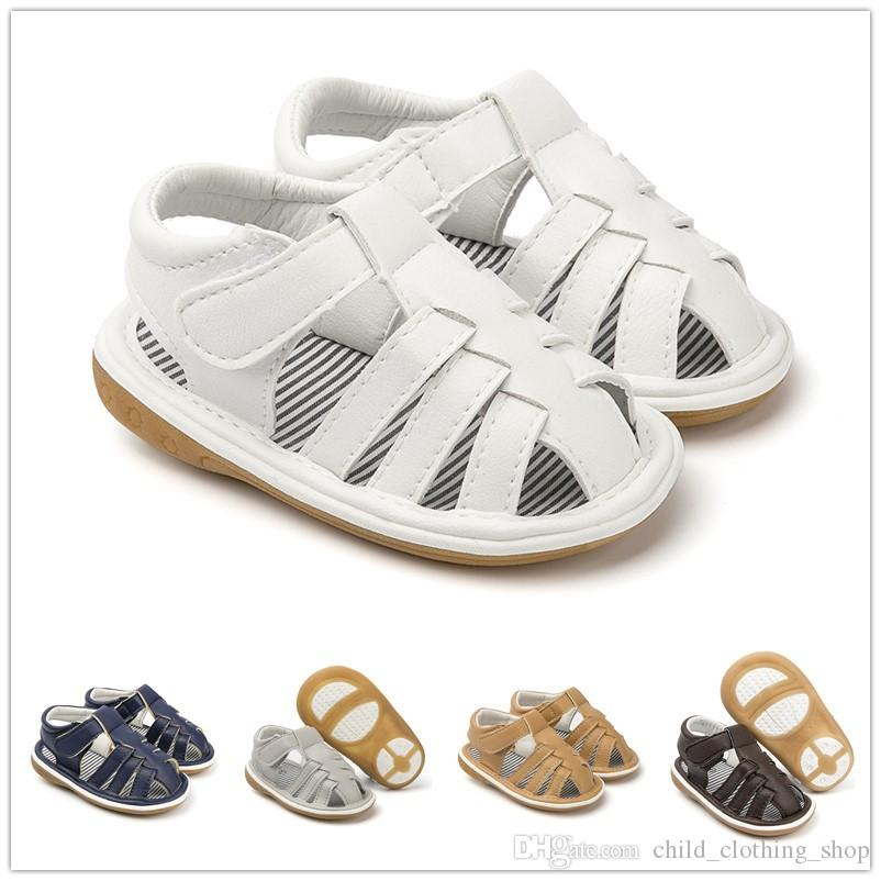 4fb8afc71 2019 New Spring Summer Baby Boys Sandals Pu Leather Hard Sole Anti Slip Infant  Child Kids Baby Sandals Discount Shoes For Toddlers Kids Brown Sandals From  ...