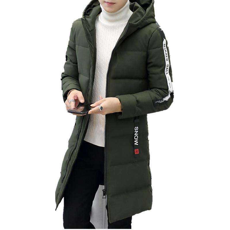 Fashion new men's Parka thick warm winter male coat men quilted jacket hoody parka long cotton hoodie costume SH190918