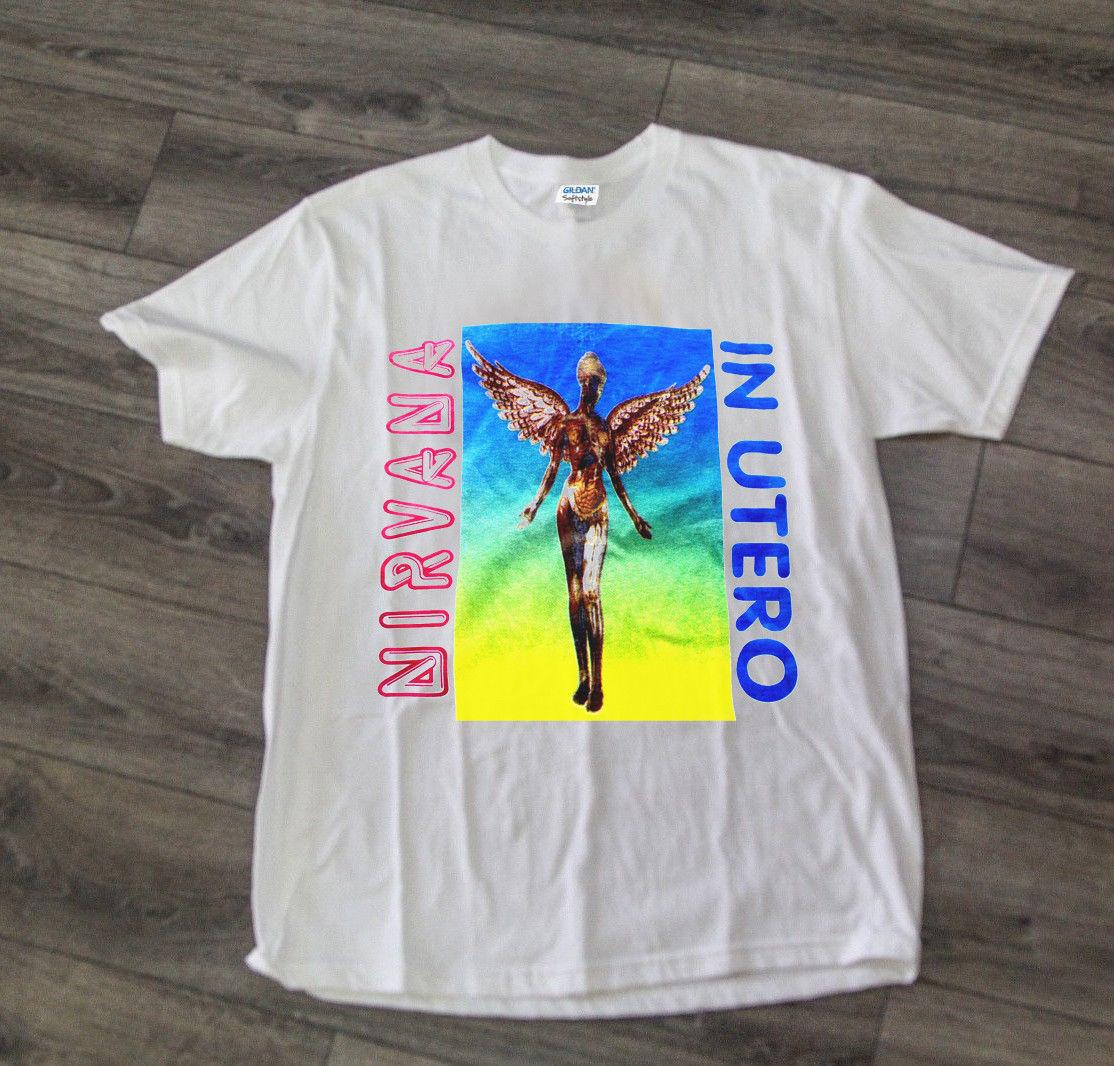 0dd804876 Vintage Nirvana In Utero T Shirt 90s 1993 Rare Band Tour REPRINT Men Women  Unisex Fashion Tshirt Design Shirts Cool Tshirts From Besttshirts201804, ...
